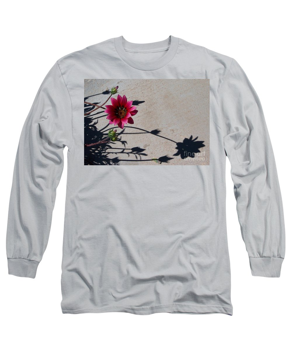 Flowers Long Sleeve T-Shirt featuring the photograph Me And My Shadow by Kathy McClure