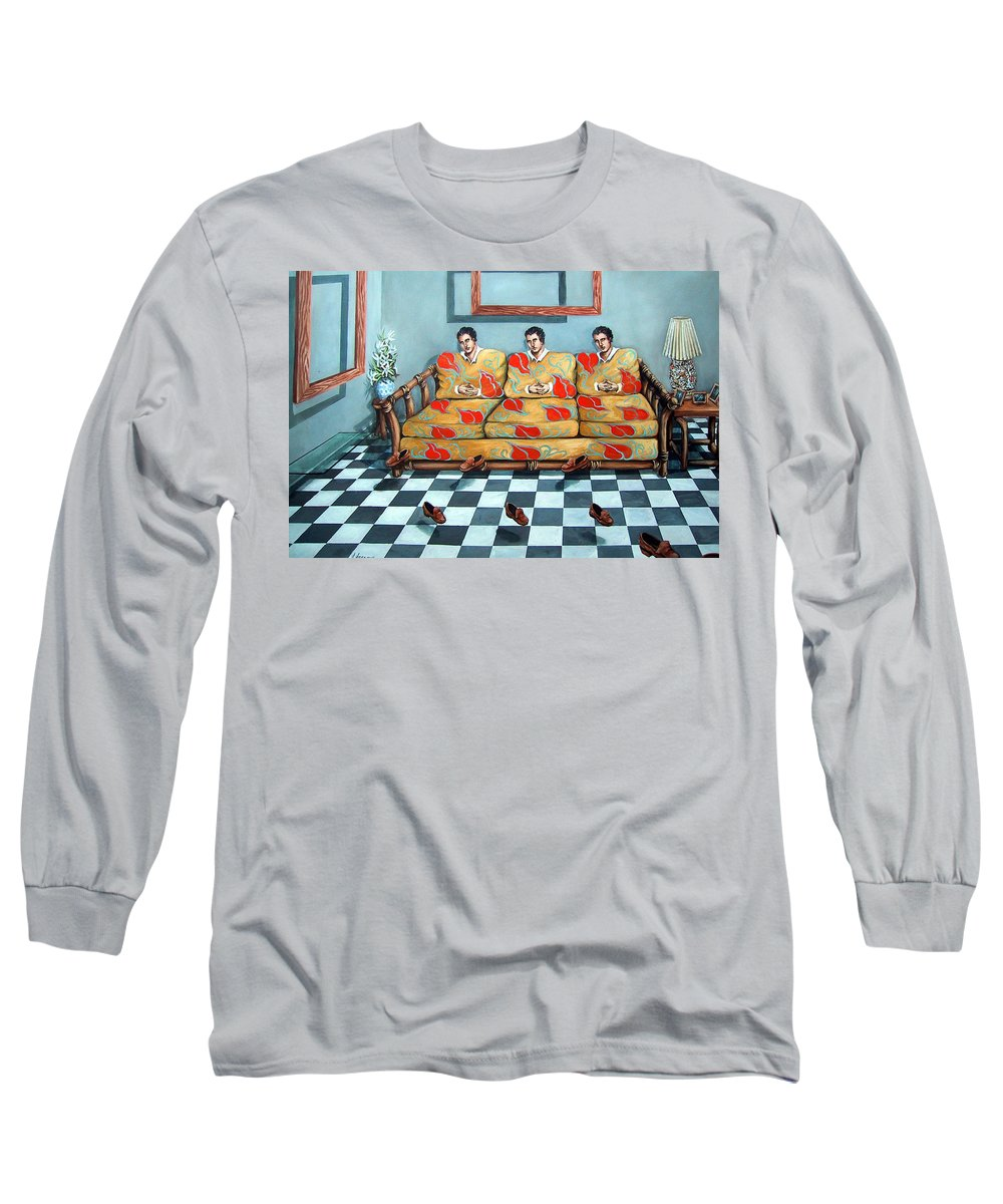 S Long Sleeve T-Shirt featuring the painting Meditation by Valerie Vescovi