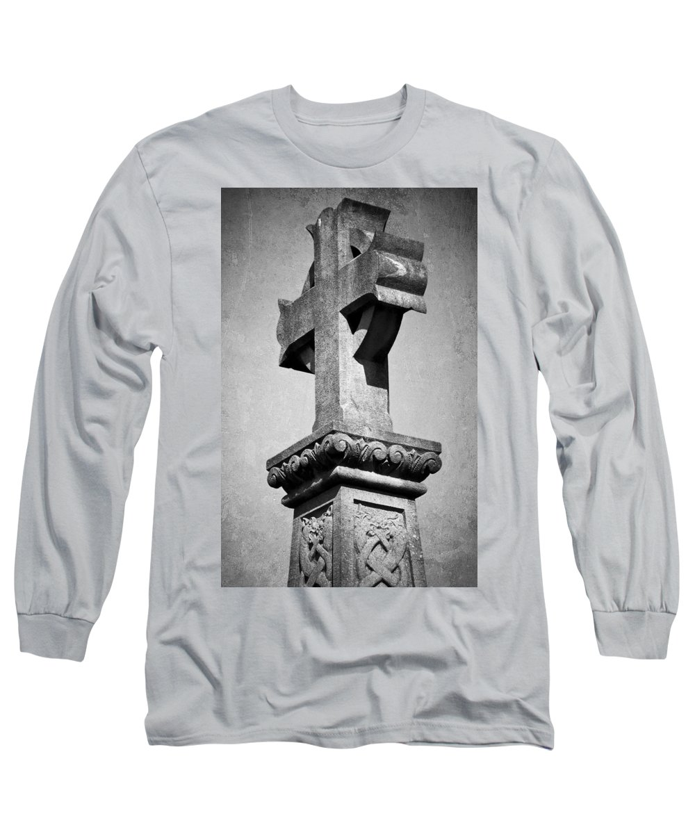 Irish Long Sleeve T-Shirt featuring the photograph Monument Cross Macroom Ireland by Teresa Mucha