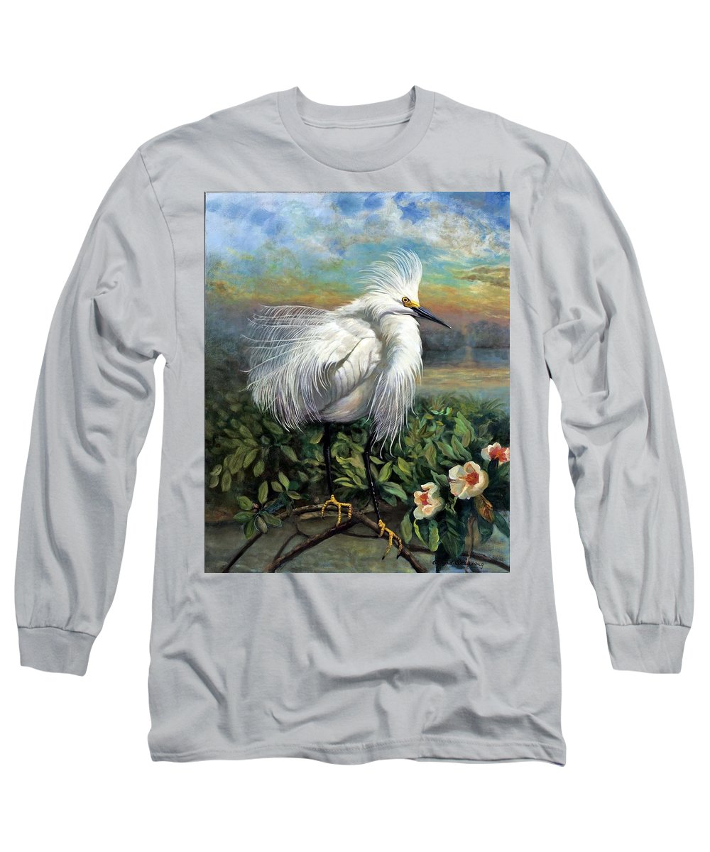 Landscape Long Sleeve T-Shirt featuring the painting Morning Watch by Edward Skallberg