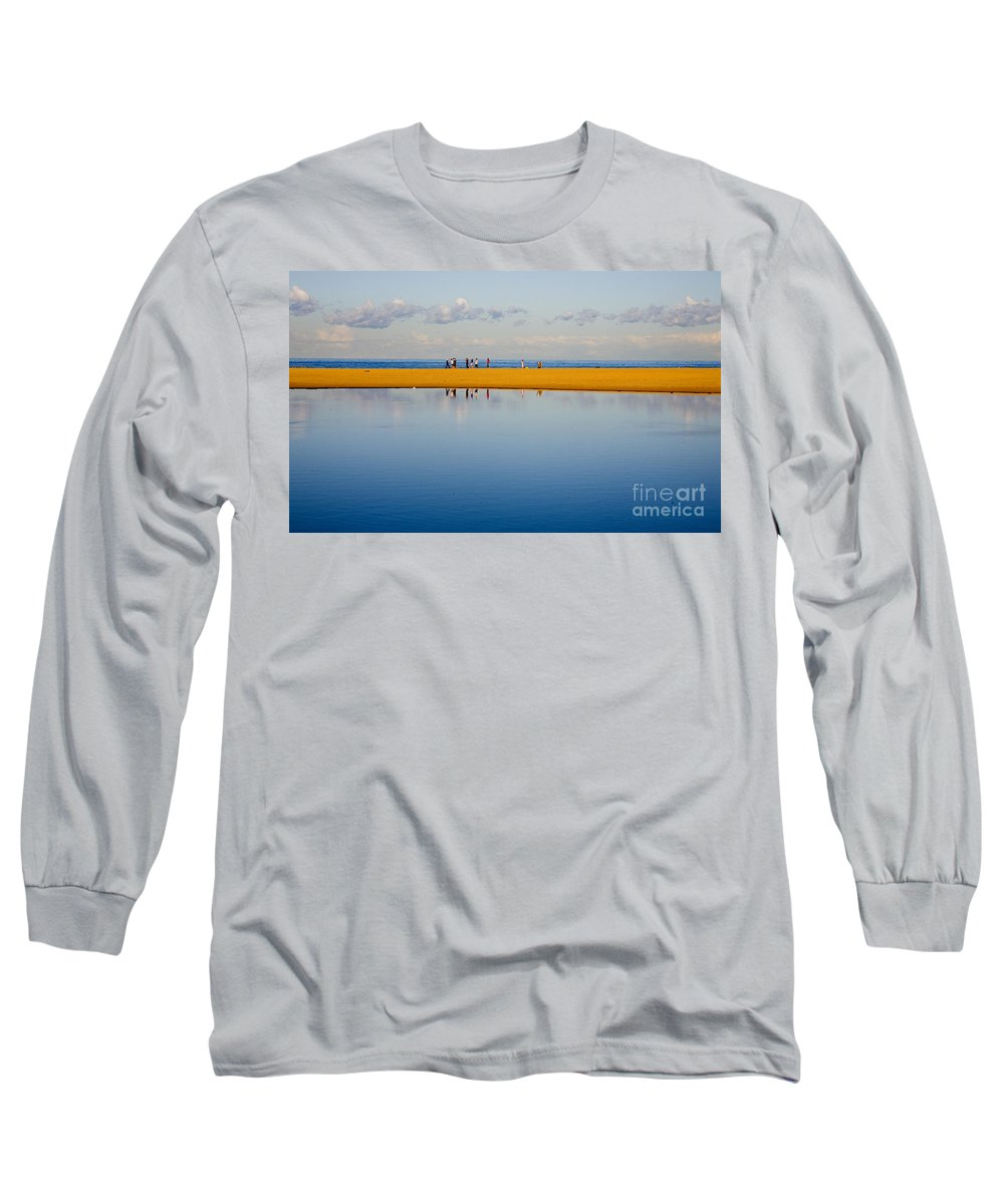 Dunes Lowry Sand Sky Reflection Sun Lifestyle Narrabeen Australia Long Sleeve T-Shirt featuring the photograph Narrabeen Dunes by Sheila Smart Fine Art Photography
