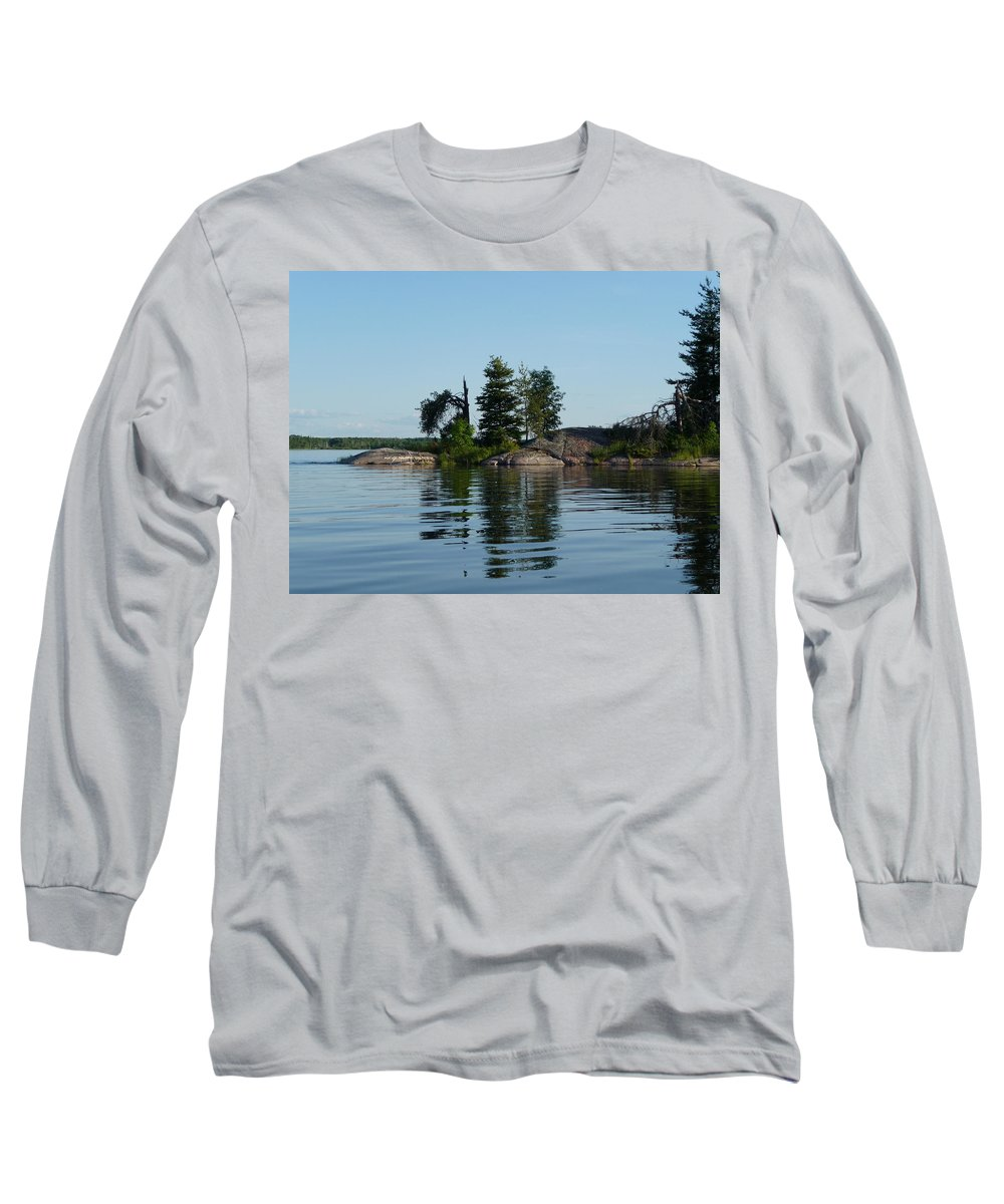 Lake Long Sleeve T-Shirt featuring the photograph Natural Breakwater by Ruth Kamenev
