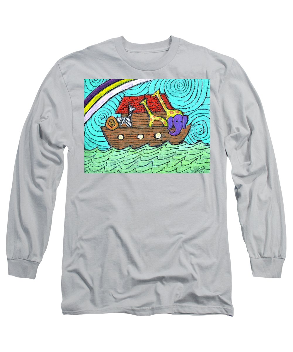 Children's Long Sleeve T-Shirt featuring the painting Noahs Ark Two by Wayne Potrafka