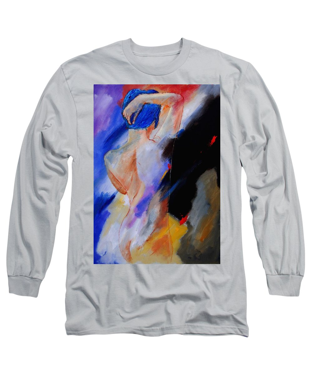 Nude Long Sleeve T-Shirt featuring the painting Nude 579020 by Pol Ledent