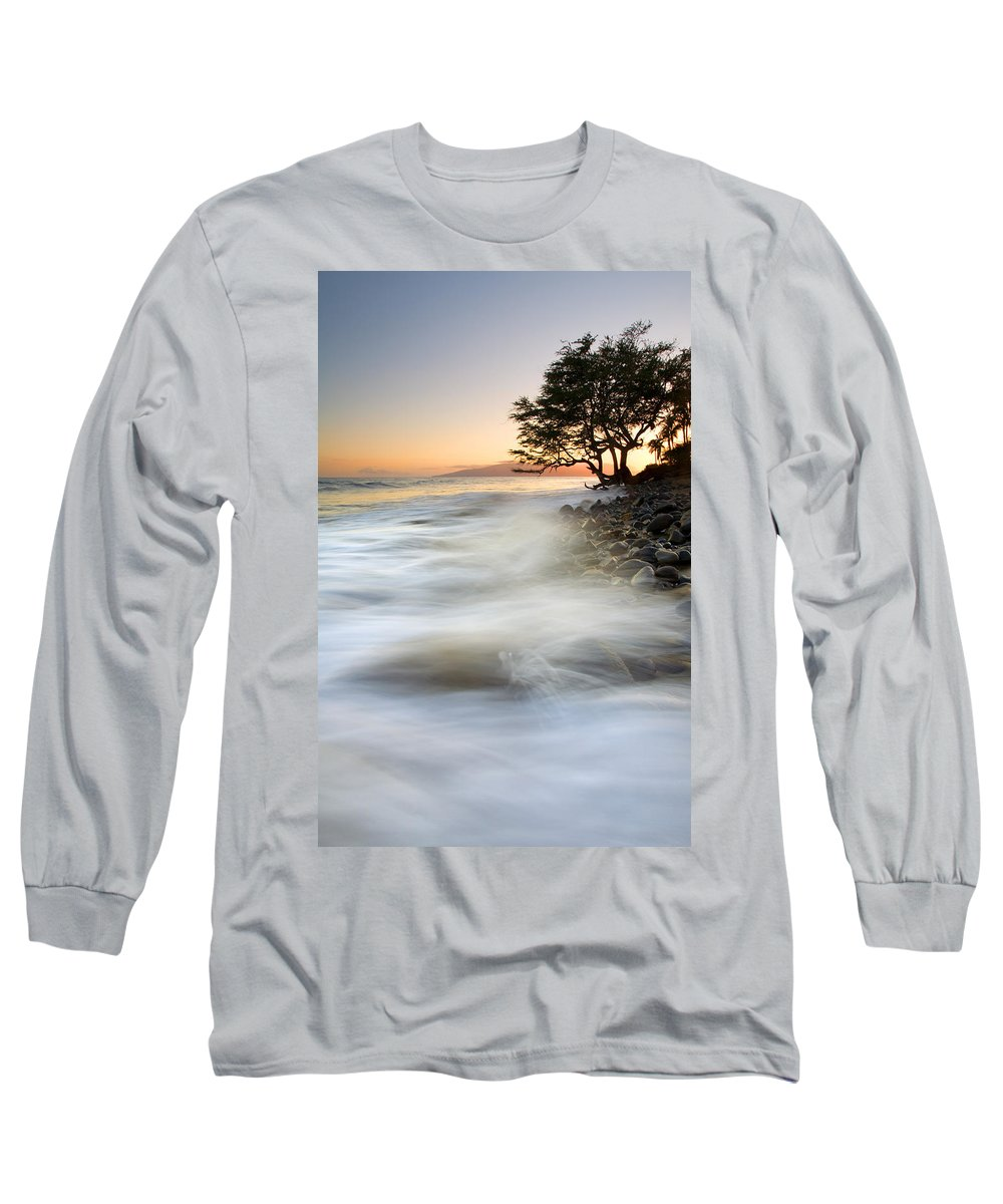 Sunset Long Sleeve T-Shirt featuring the photograph One Against The Tides by Mike Dawson