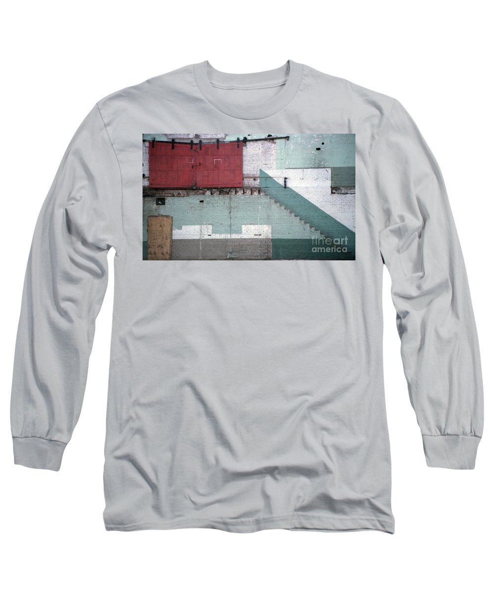 Abstract Long Sleeve T-Shirt featuring the photograph Partial Demolition by Richard Rizzo