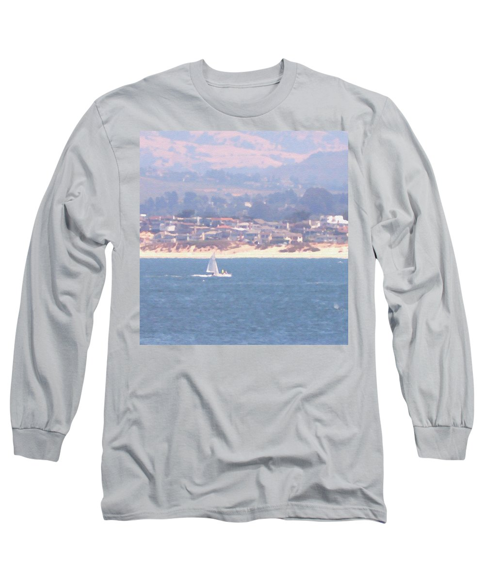 Sailing Long Sleeve T-Shirt featuring the photograph Pastel Sail by Pharris Art