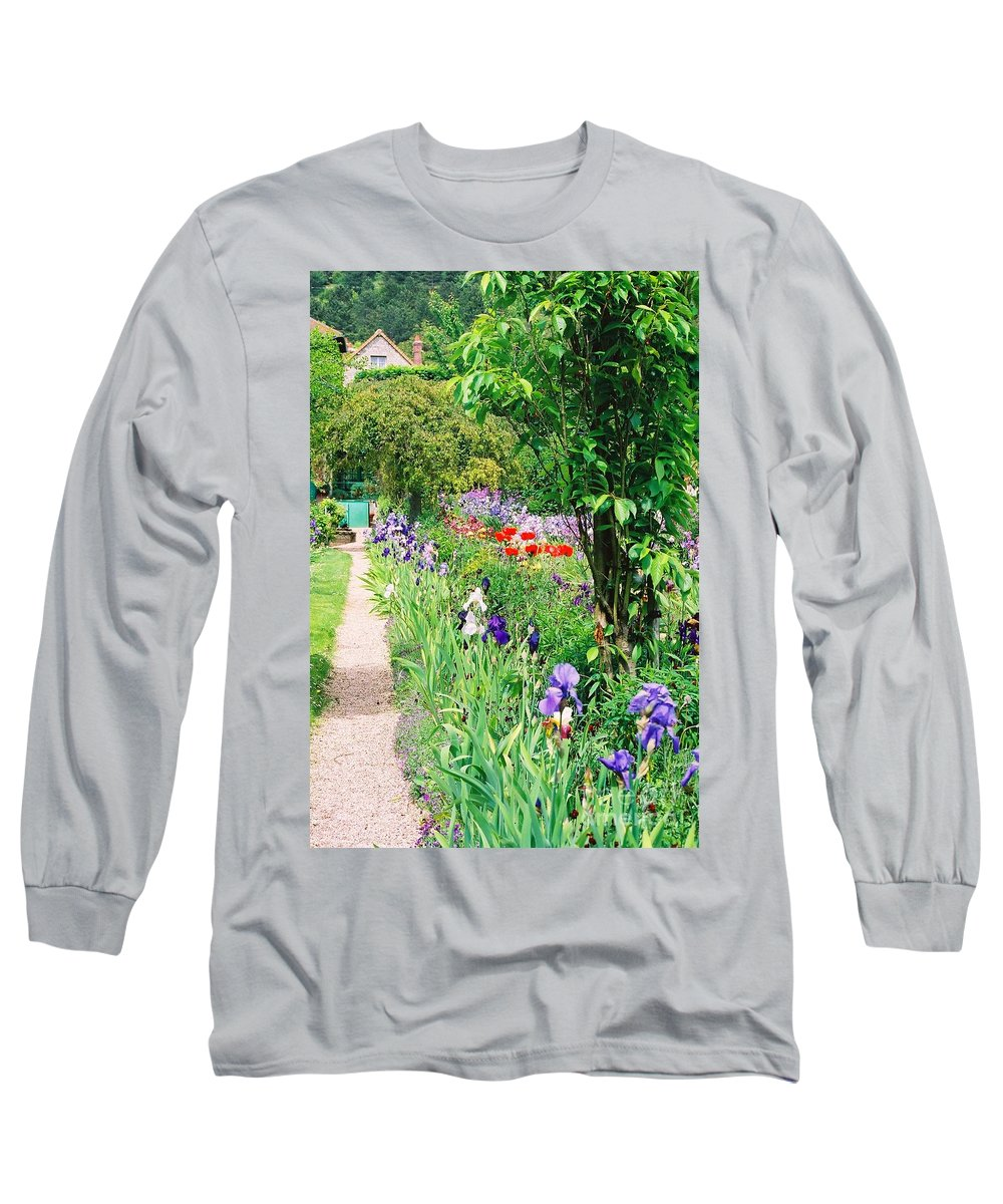 Claude Monet Long Sleeve T-Shirt featuring the photograph Path To Monet's House by Nadine Rippelmeyer