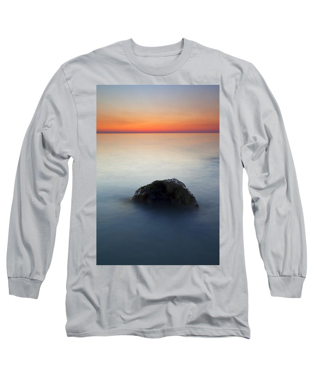Rock Long Sleeve T-Shirt featuring the photograph Peaceful Isolation by Mike Dawson