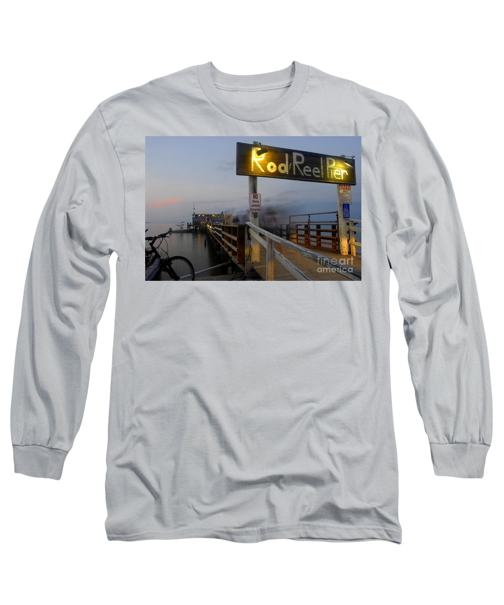Fishing Pier Long Sleeve T-Shirt featuring the photograph Pier Group by David Lee Thompson