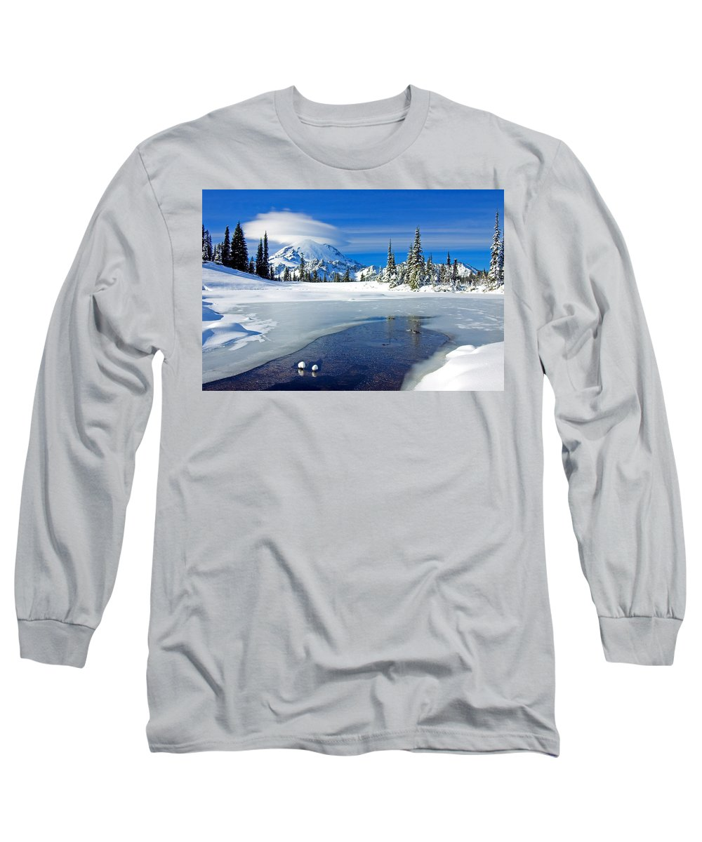Rainier Long Sleeve T-Shirt featuring the photograph Pristine by Mike Dawson