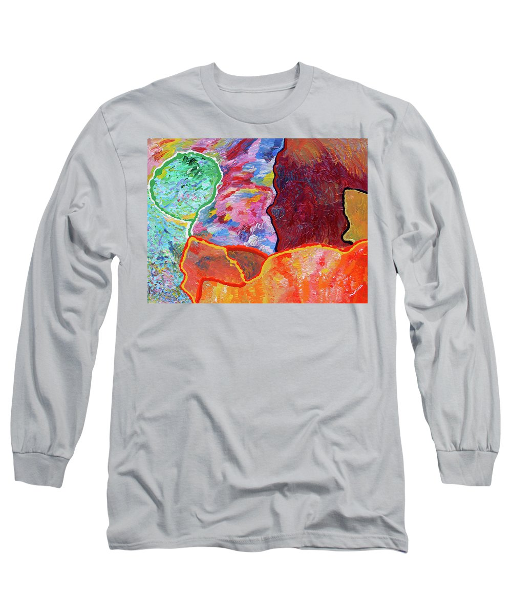 Fusionart Long Sleeve T-Shirt featuring the painting Puzzle by Ralph White