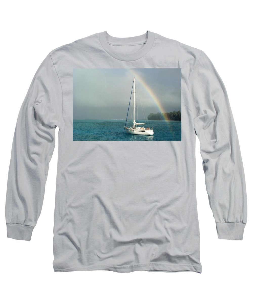 Charity Long Sleeve T-Shirt featuring the photograph Rainbow by Mary-Lee Sanders