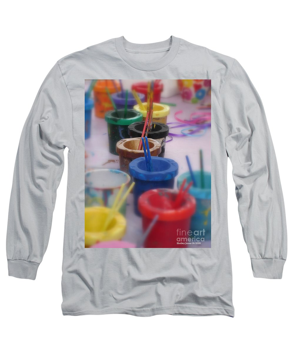 Painting Long Sleeve T-Shirt featuring the photograph Ready  Set  Paint by Shelley Jones