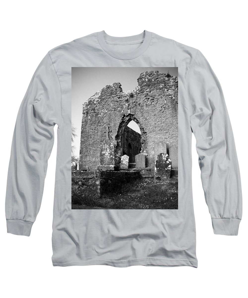 Ireland Long Sleeve T-Shirt featuring the photograph Rear Entrance Fuerty Church Roscommon Ireland by Teresa Mucha