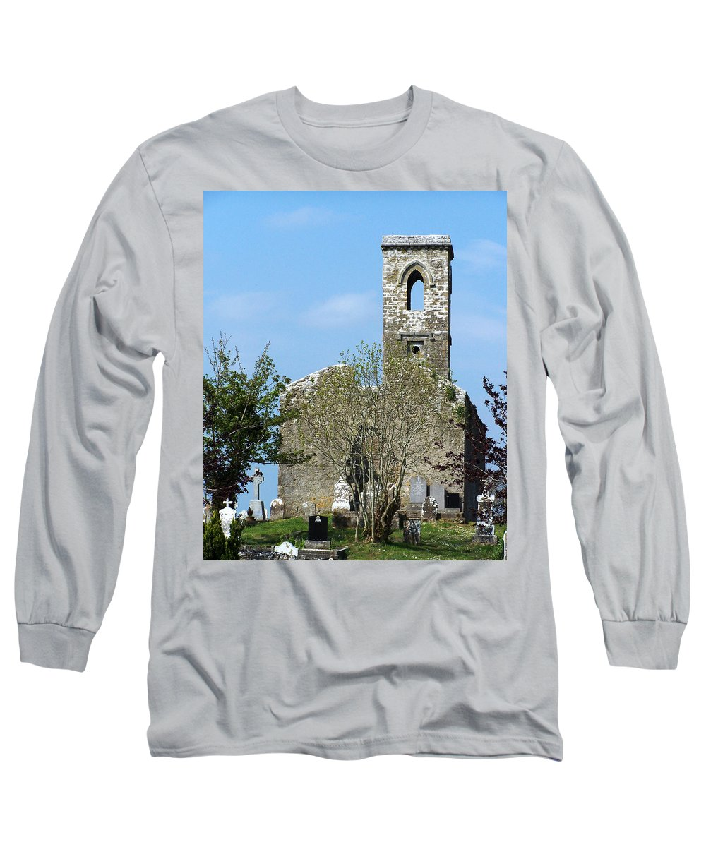 Fuerty Long Sleeve T-Shirt featuring the photograph Rear View Fuerty Church And Cemetery Roscommon Ireland by Teresa Mucha