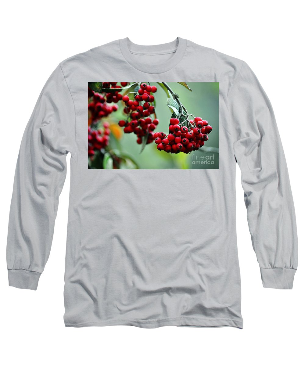 Clay Long Sleeve T-Shirt featuring the photograph Red Berries by Clayton Bruster