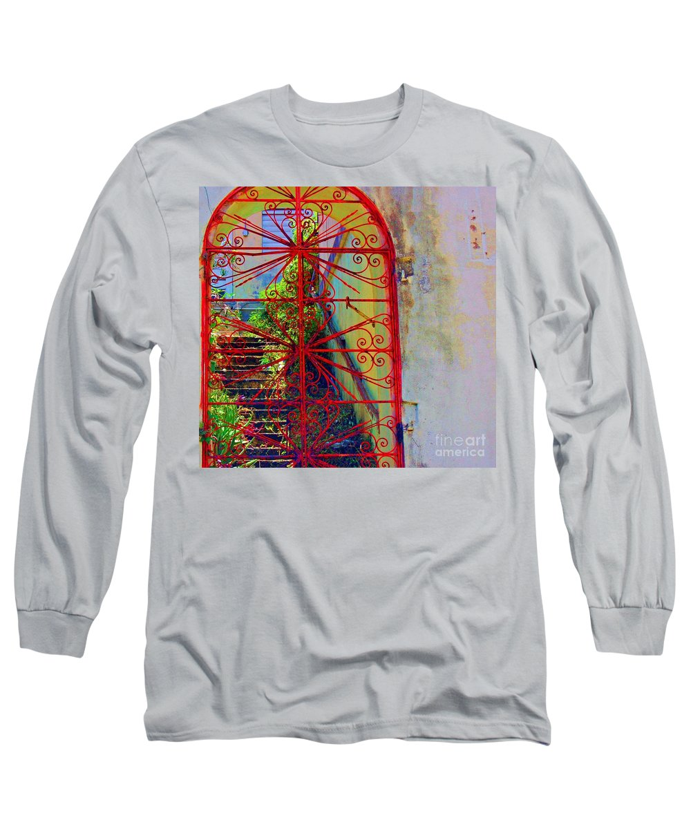 Gate Long Sleeve T-Shirt featuring the photograph Red Gate by Debbi Granruth