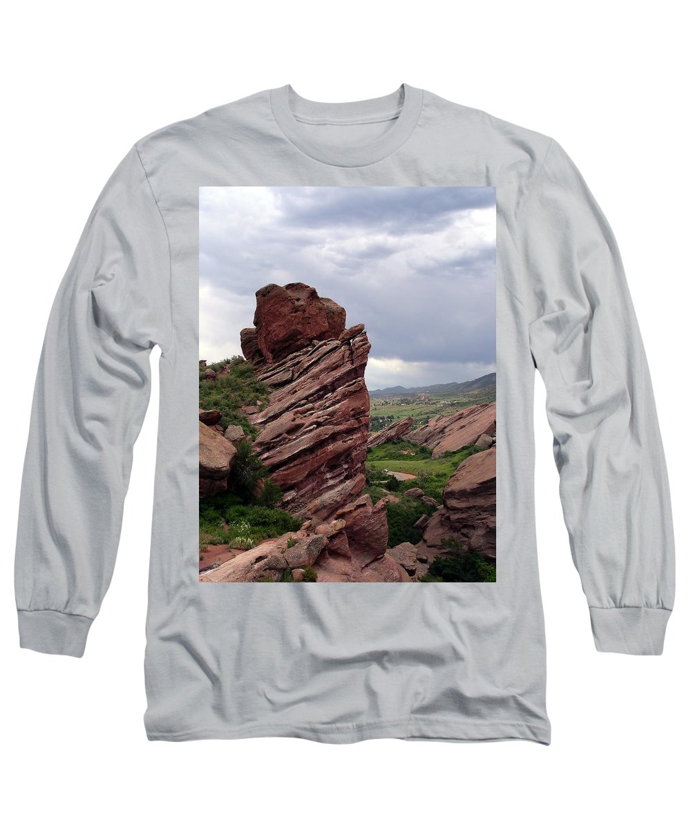 Red Rocks Long Sleeve T-Shirt featuring the photograph Red Rocks Colorado by Merja Waters