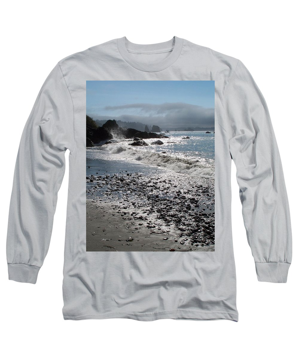 Ocean Long Sleeve T-Shirt featuring the photograph Rocky Shores by Gale Cochran-Smith