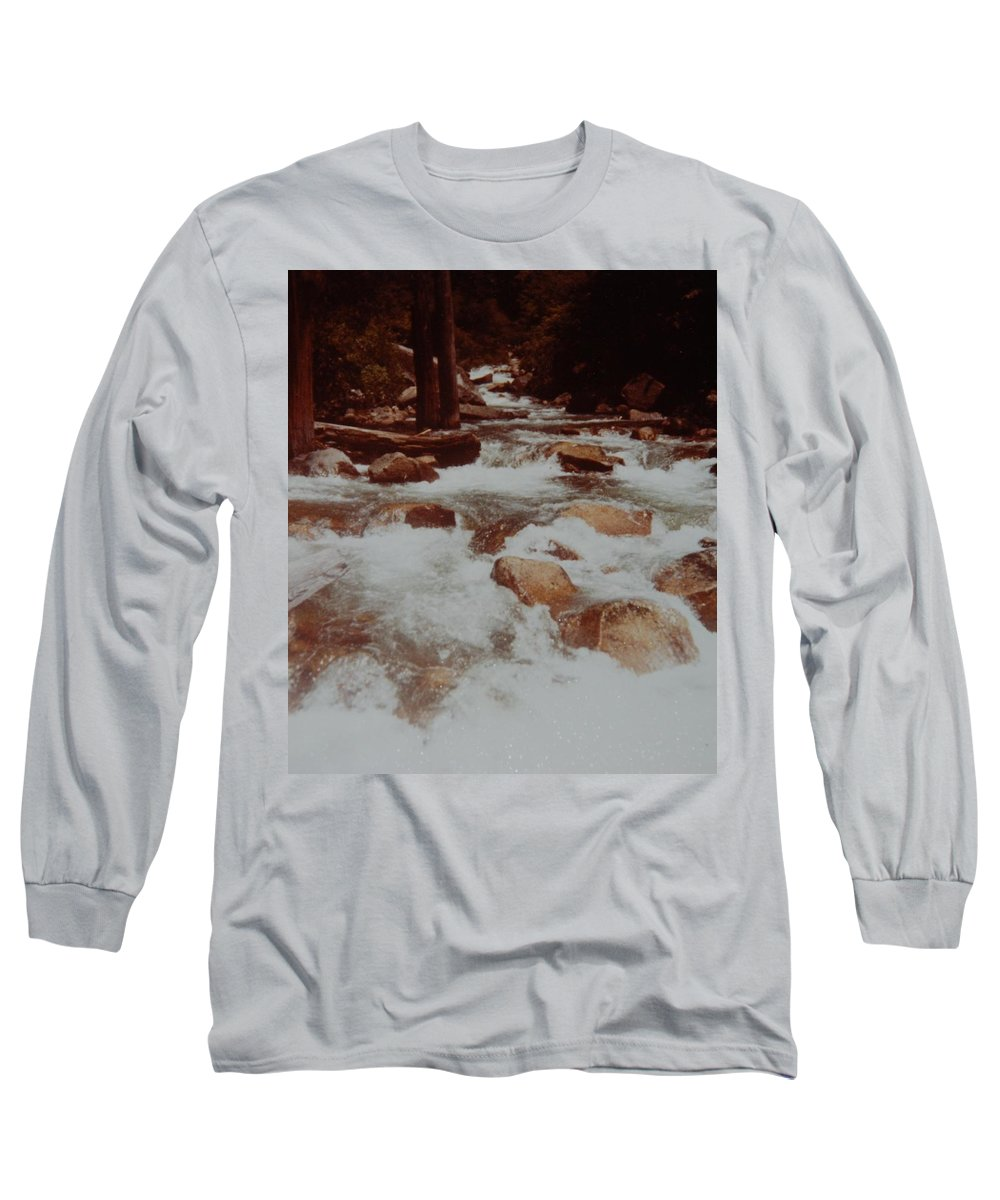 Water Long Sleeve T-Shirt featuring the photograph Rushing Water by Rob Hans