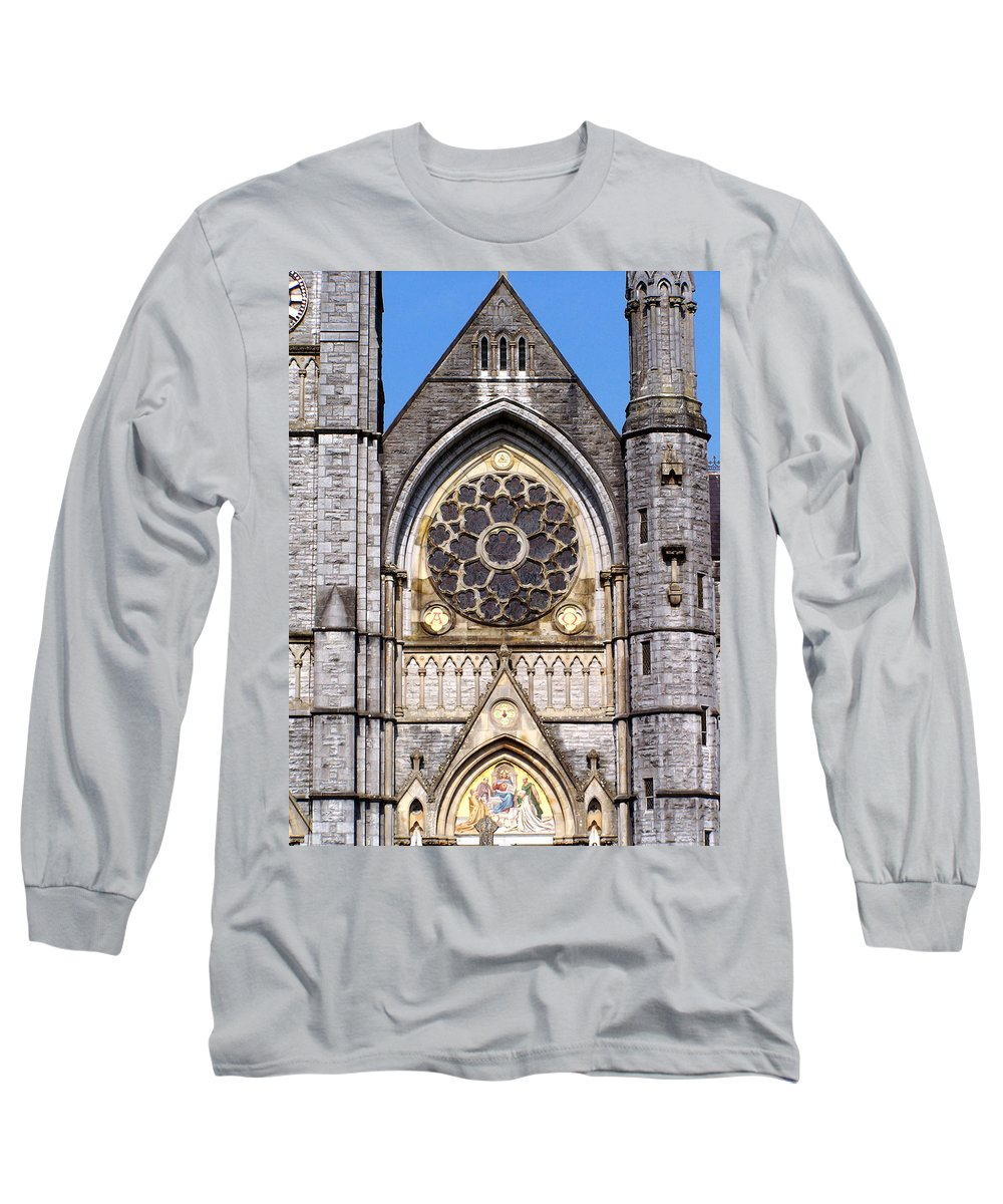 Ireland Long Sleeve T-Shirt featuring the photograph Sacred Heart Church Detail Roscommon Ireland by Teresa Mucha