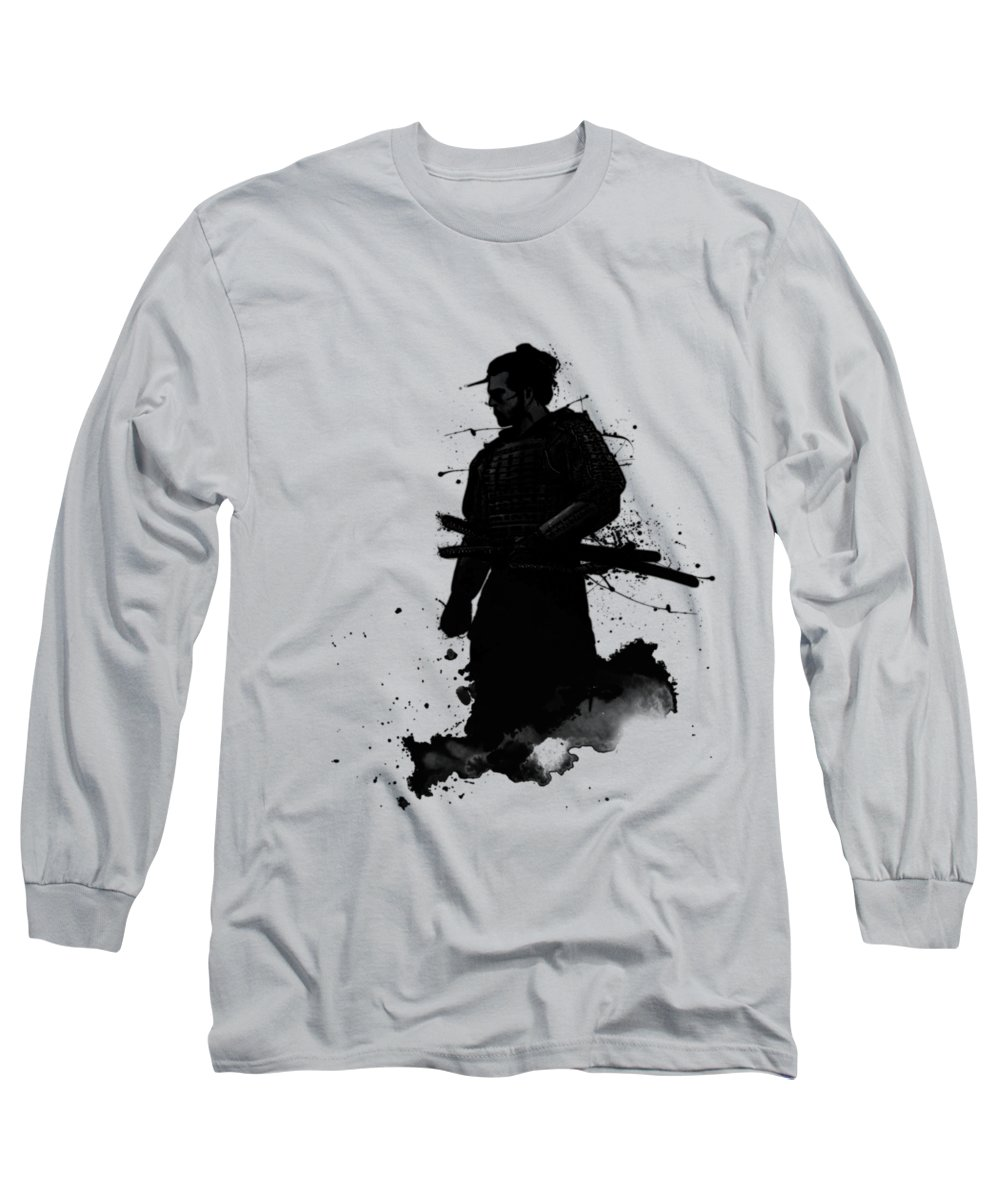 Samurai Long Sleeve T-Shirt featuring the painting Samurai by Nicklas Gustafsson