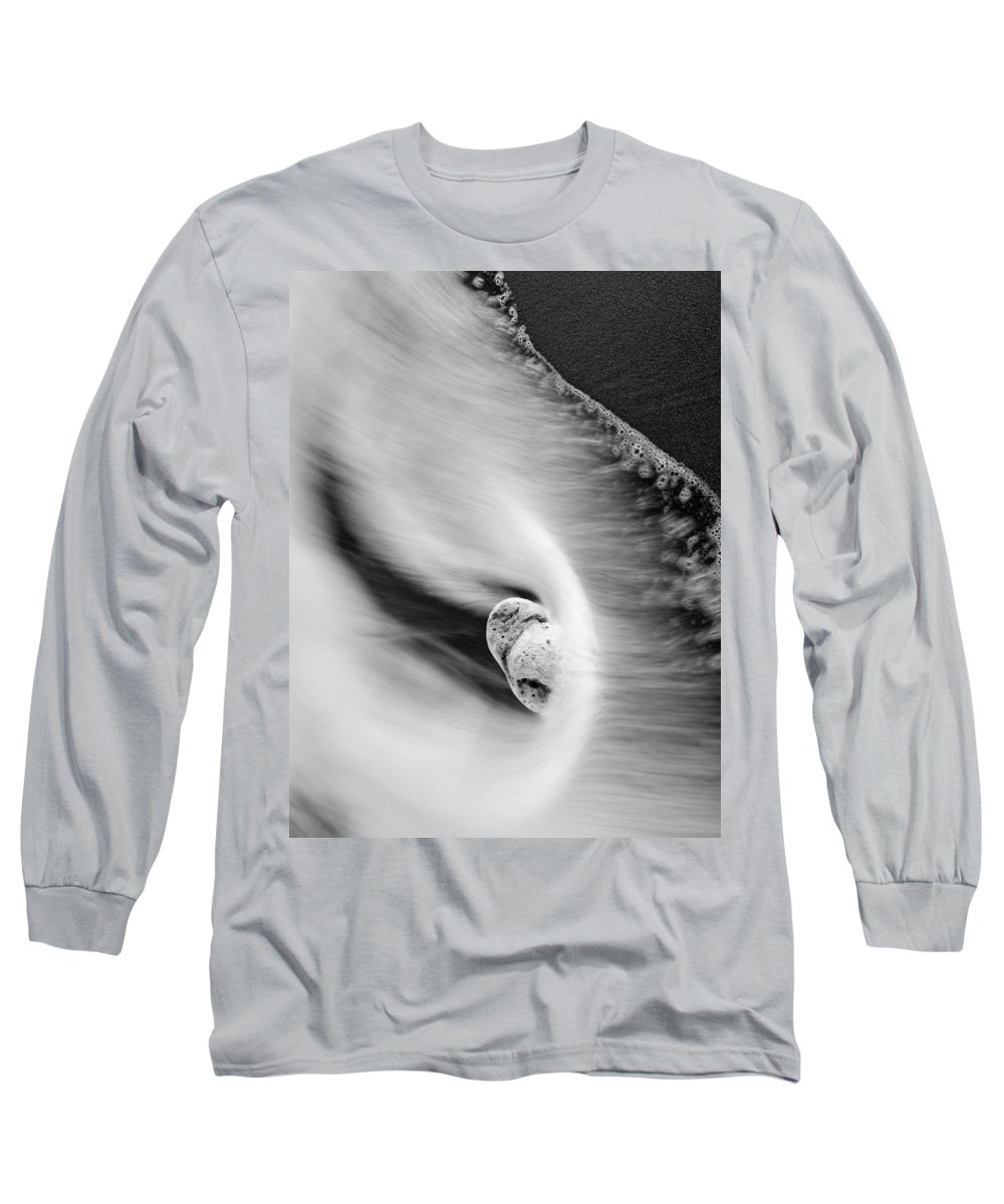 Rock Long Sleeve T-Shirt featuring the photograph Sand And Sea by Mike Dawson