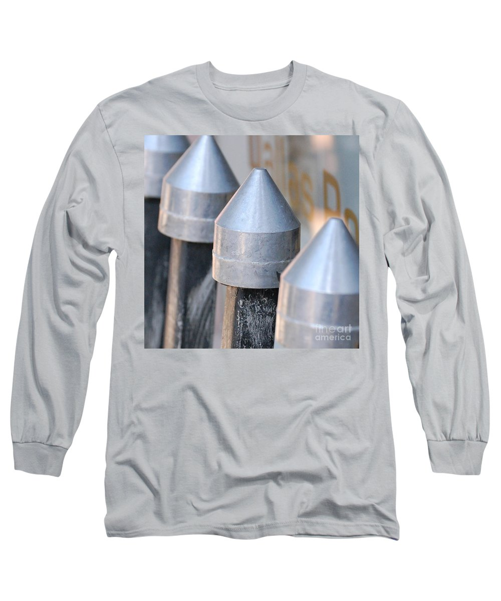 Gate Long Sleeve T-Shirt featuring the photograph Silver Bullets by Debbi Granruth