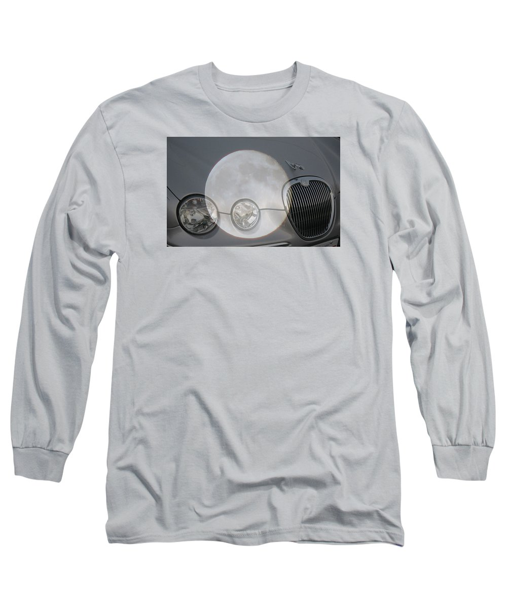 Car Long Sleeve T-Shirt featuring the photograph Silver Moon Jaguar by J R  Seymour