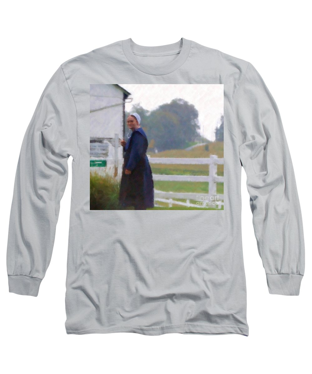 Amish Long Sleeve T-Shirt featuring the photograph Simple Living by Debbi Granruth