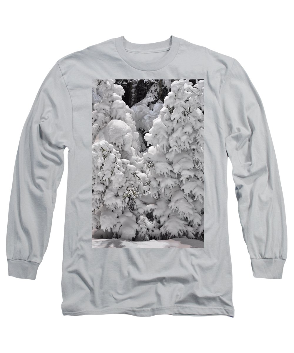 Snow Long Sleeve T-Shirt featuring the photograph Snow Coat by Alex Grichenko