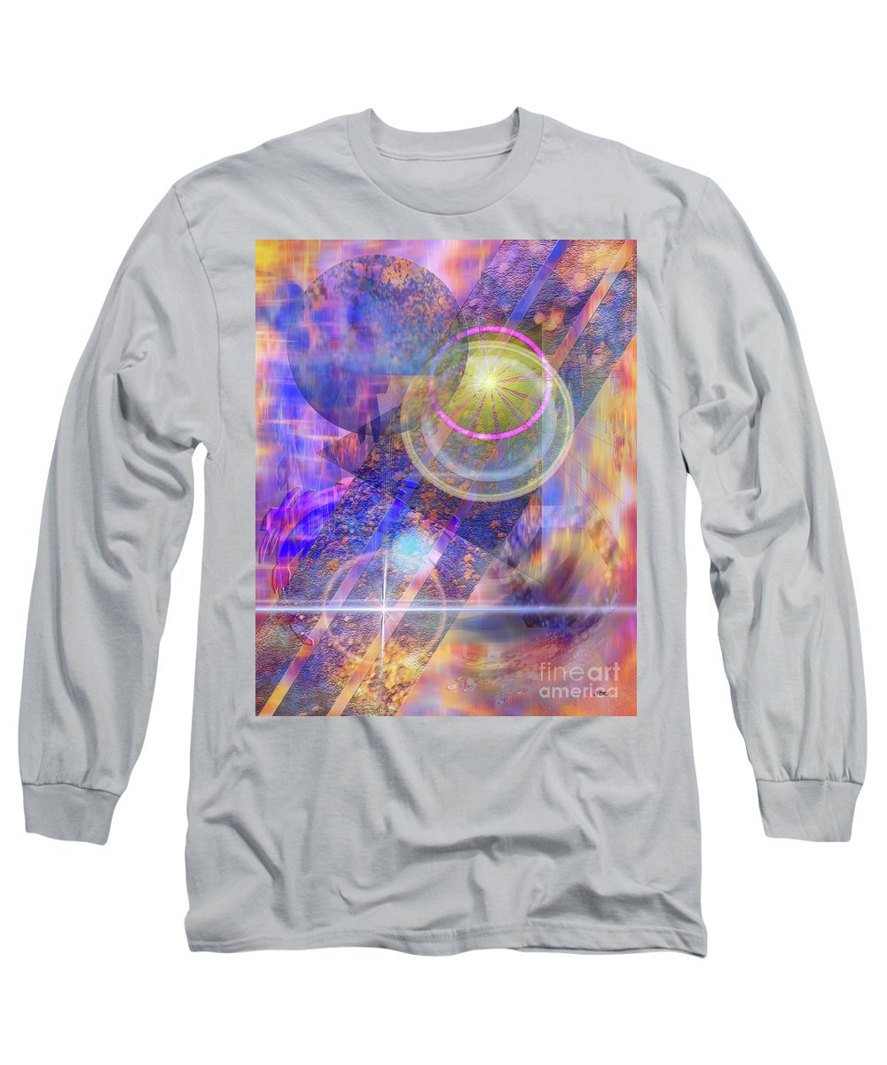 Solar Progression Long Sleeve T-Shirt featuring the digital art Solar Progression by John Beck
