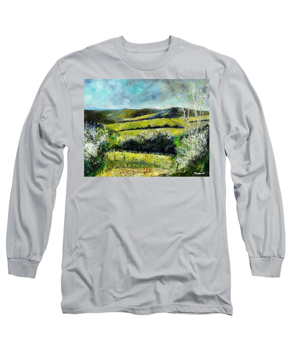 Landscape Long Sleeve T-Shirt featuring the print Spring 79 by Pol Ledent