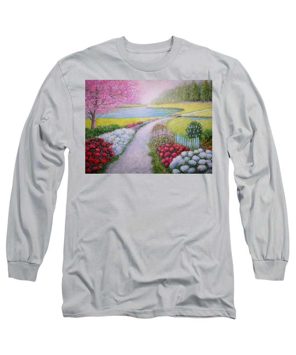Landscape Long Sleeve T-Shirt featuring the painting Spring by William H RaVell III