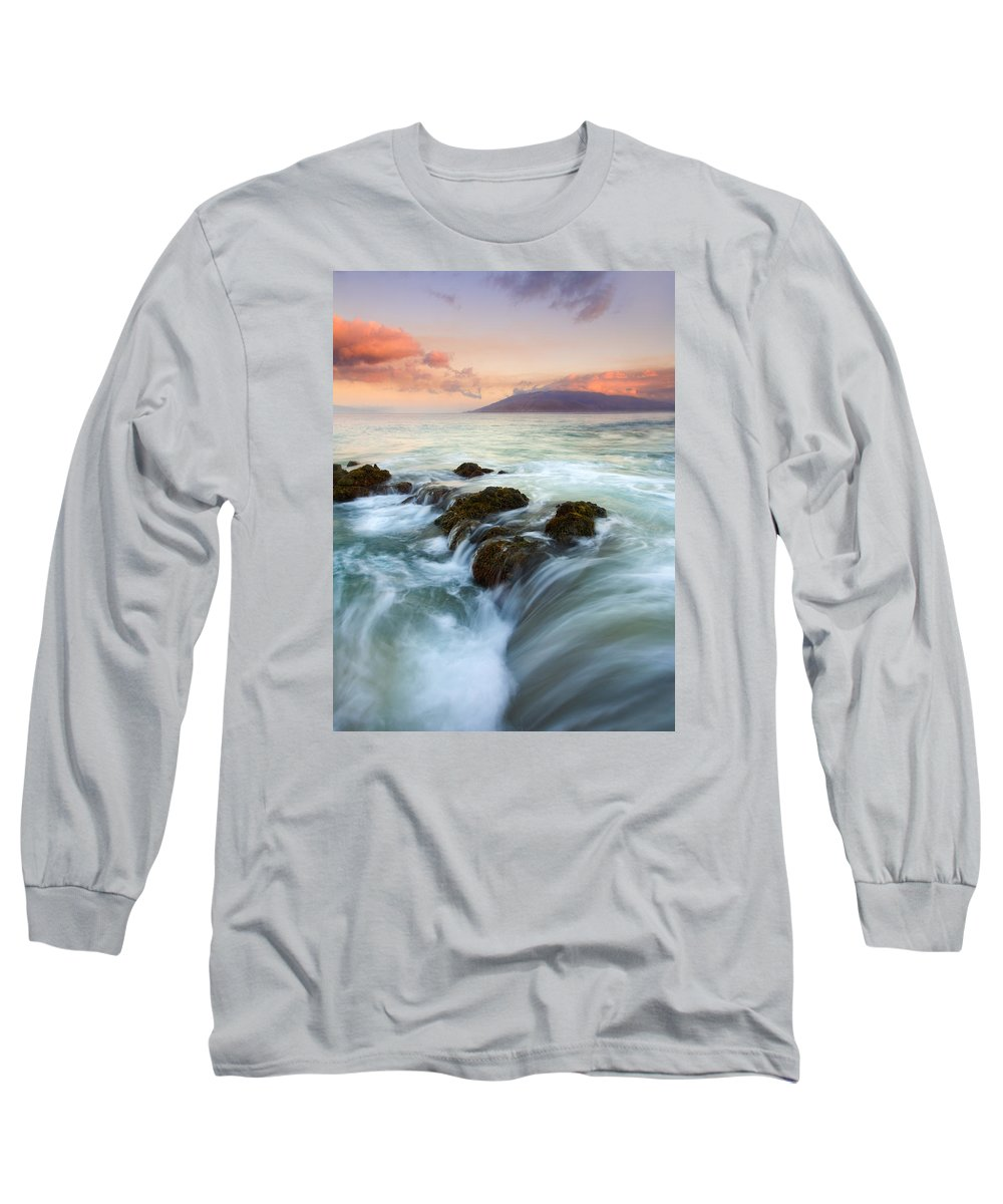 Sunrise Long Sleeve T-Shirt featuring the photograph Sunrise Drain by Mike Dawson