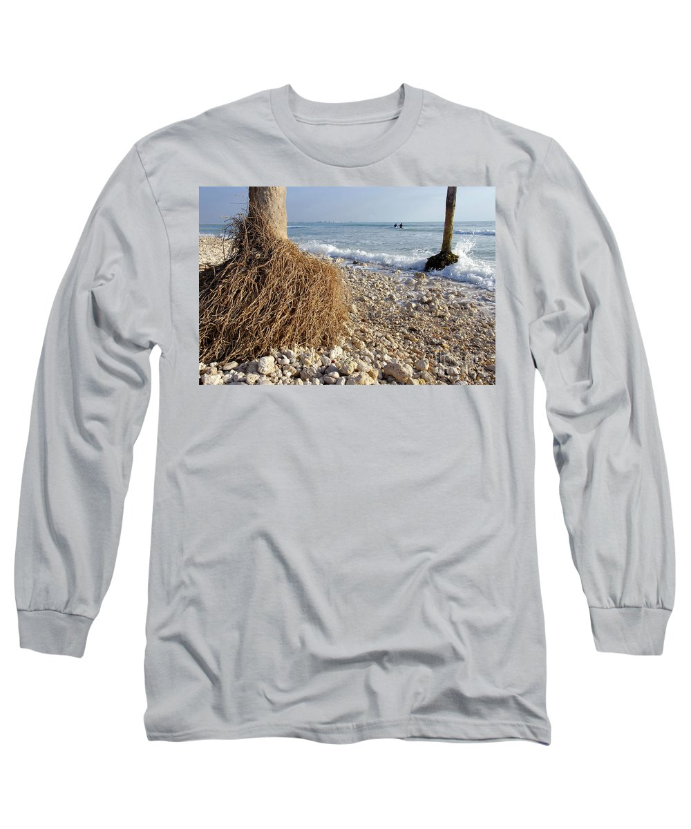 Surfing Long Sleeve T-Shirt featuring the photograph Surfing With Palms by David Lee Thompson