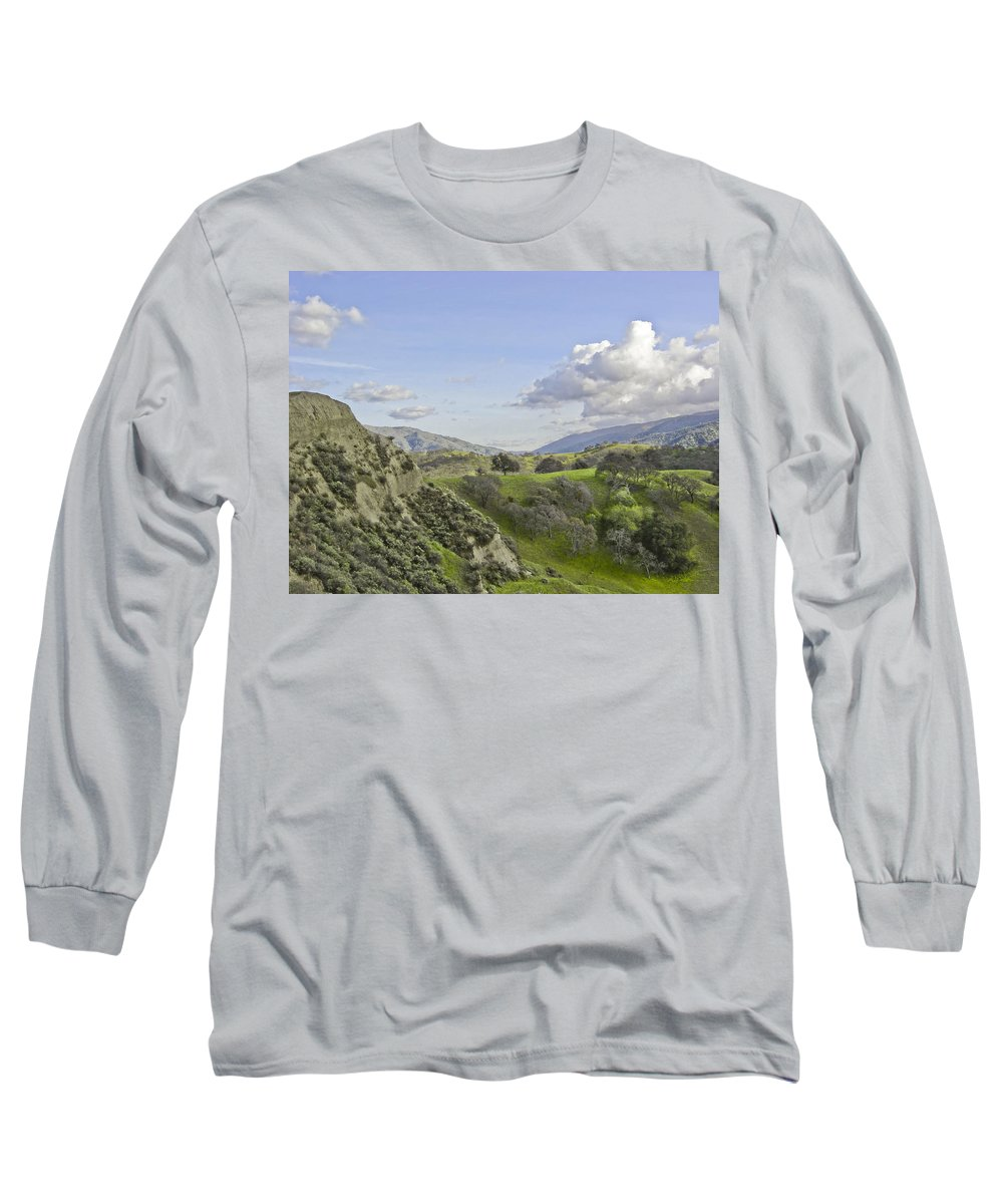 Landscape Long Sleeve T-Shirt featuring the photograph Swallow Bay Cliffs by Karen W Meyer