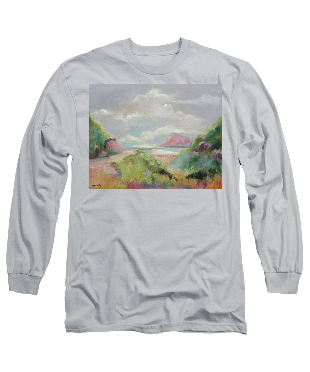 Seascape Long Sleeve T-Shirt featuring the painting Taiwan Inlet by Ginger Concepcion