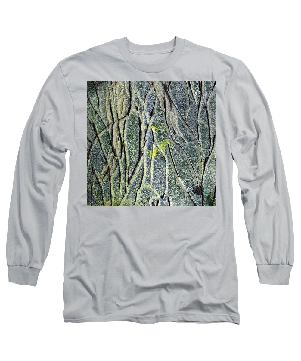 Abstract Long Sleeve T-Shirt featuring the painting Texture Study One  Entanglement by Wayne Potrafka
