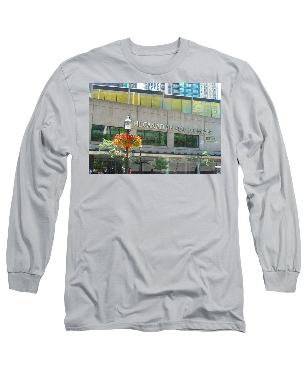 Canada Long Sleeve T-Shirt featuring the photograph The Canadian Stage Company by Ian MacDonald
