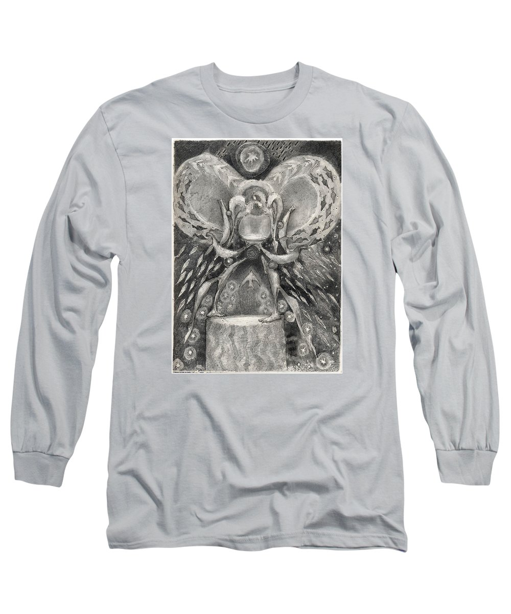 The Gift Long Sleeve T-Shirt featuring the drawing The Gift II by Juel Grant