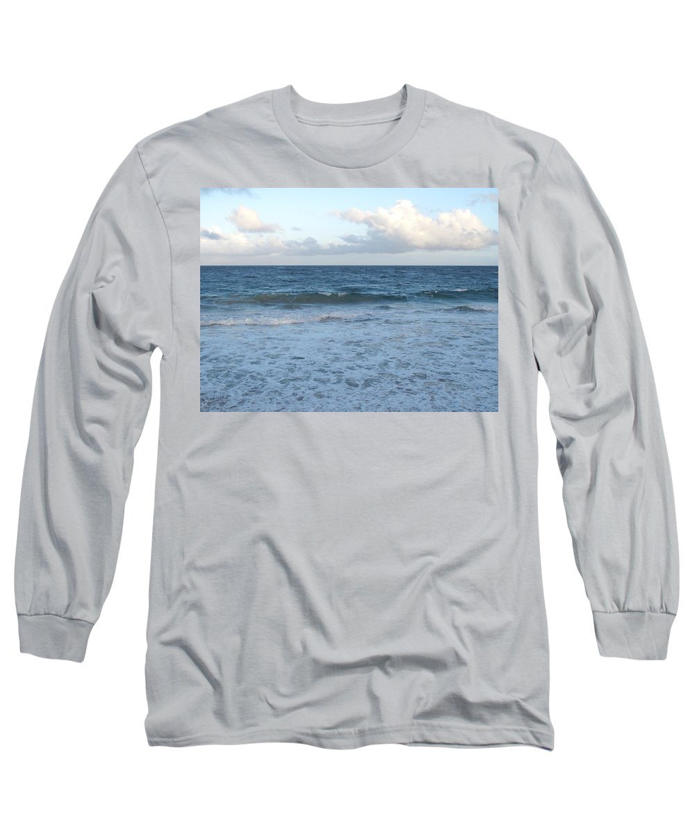 Surf Long Sleeve T-Shirt featuring the photograph The Next Wave by Ian MacDonald