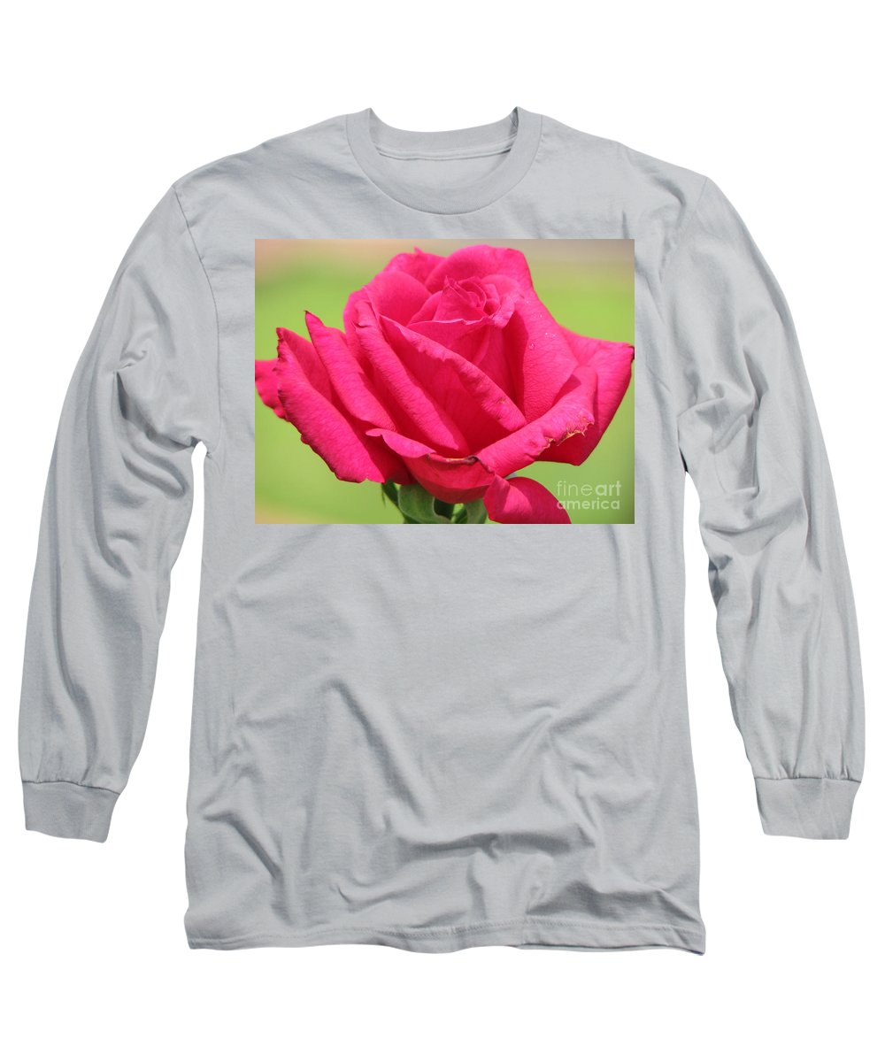 Roses Long Sleeve T-Shirt featuring the photograph The Rose by Amanda Barcon