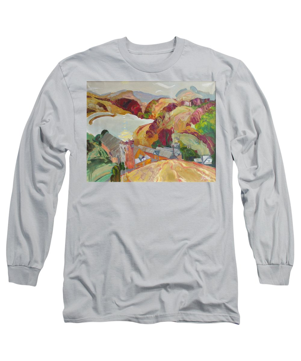Oil Long Sleeve T-Shirt featuring the painting The Slovechansk Edge by Sergey Ignatenko
