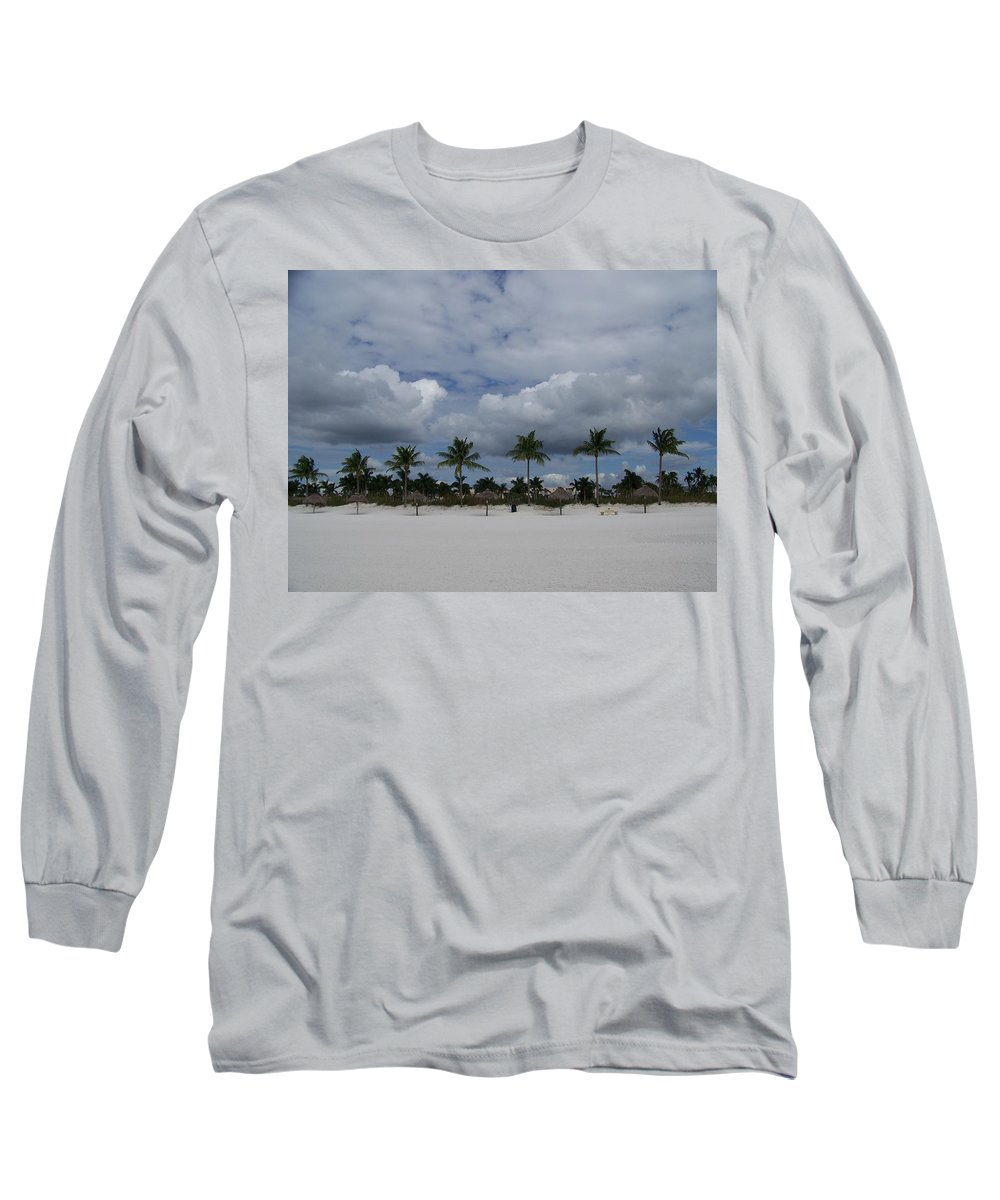 Marco Long Sleeve T-Shirt featuring the photograph Tiger Tail Beach by Laurie Paci