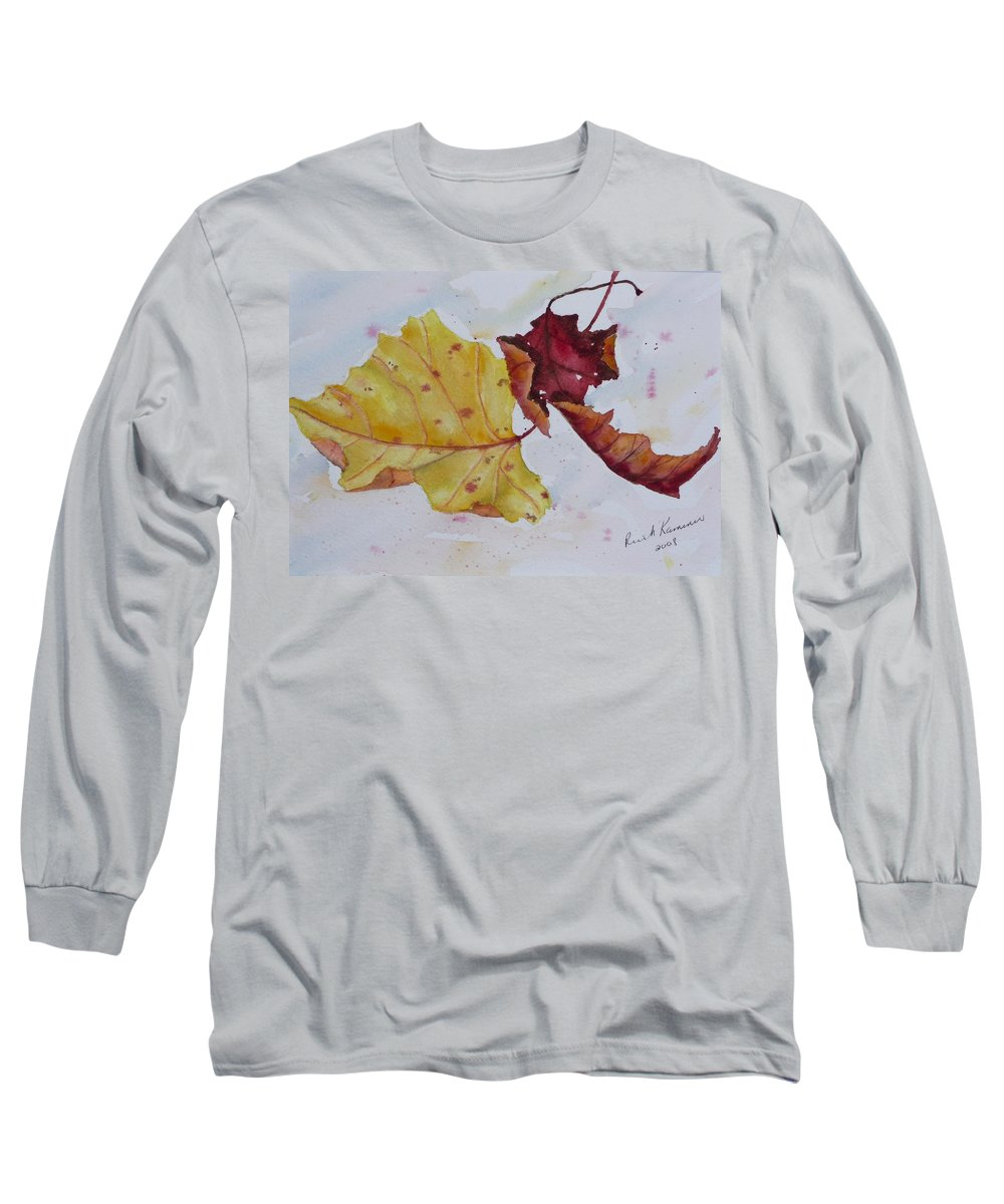 Fall Long Sleeve T-Shirt featuring the painting Tumbling by Ruth Kamenev