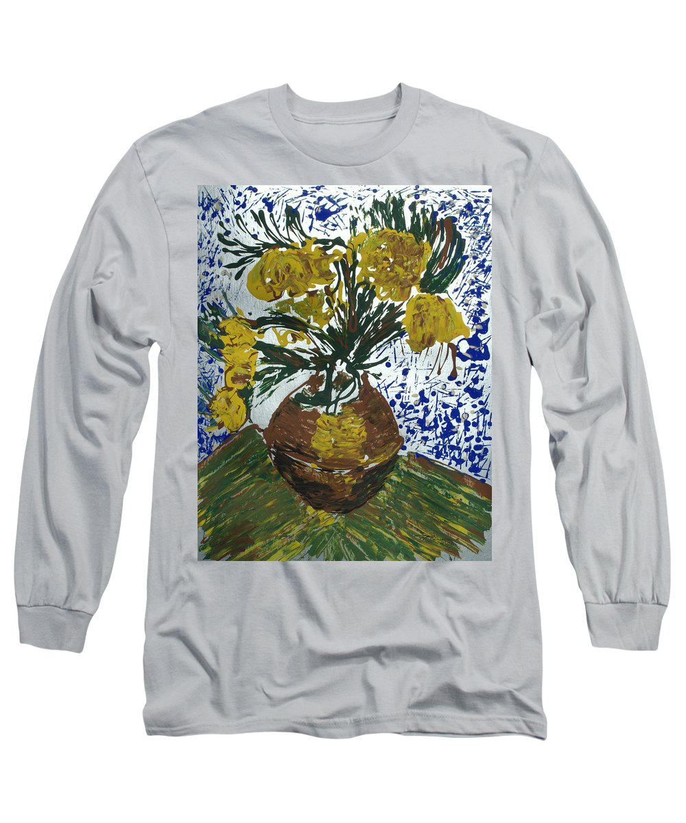 Flowers Long Sleeve T-Shirt featuring the painting Van Gogh by J R Seymour