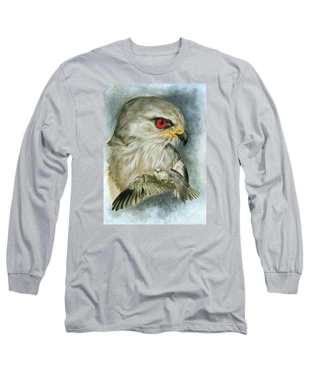 Kite Long Sleeve T-Shirt featuring the mixed media Velocity by Barbara Keith