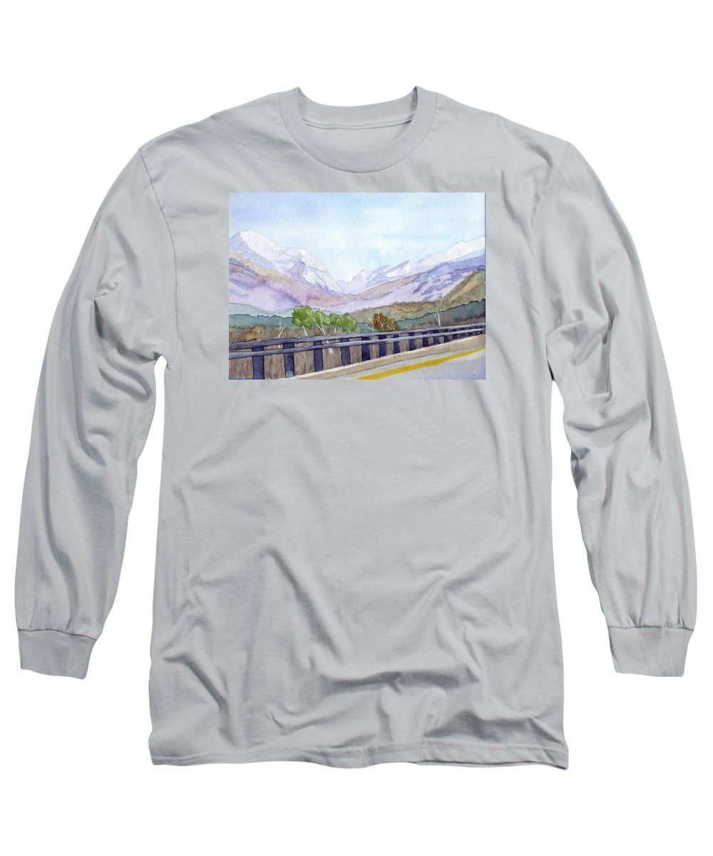 Franconia Notch Long Sleeve T-Shirt featuring the painting View Of Franconia Notch by Sharon E Allen